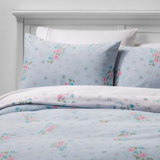 Twin/Twin Extra Long Lily Rose Duvet Cover Set Blue - Simply Shabby Chic®