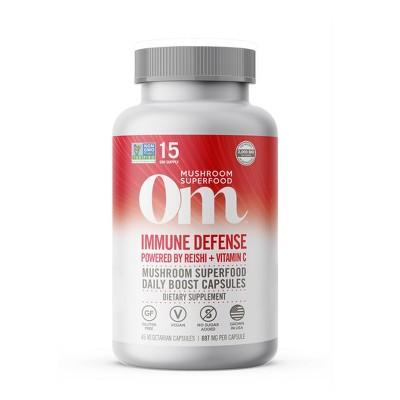 Om Mushrooms Immune Defense Superfood Supplement - 45ct