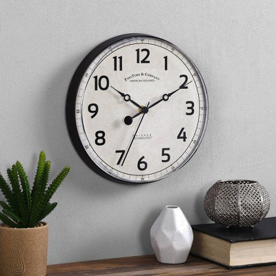 """10"""" Bryson Wall Clock Oil Rubbed Bronze - FirsTime"""