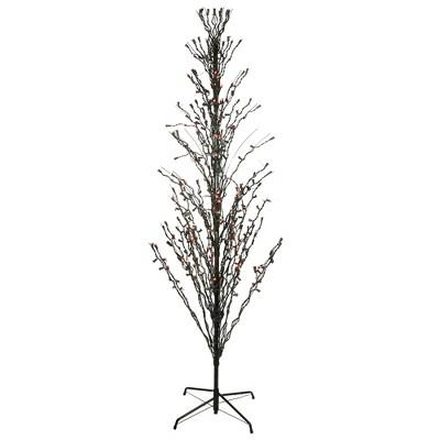 LB International 6' Prelit LED Cascade Halloween Twig Tree Outdoor Decoration - Orange