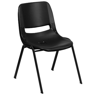 "Flash Furniture HERCULES Series 440 lb. Capacity Kid's Ergonomic Shell Stack Chair with 14"" Seat Height"