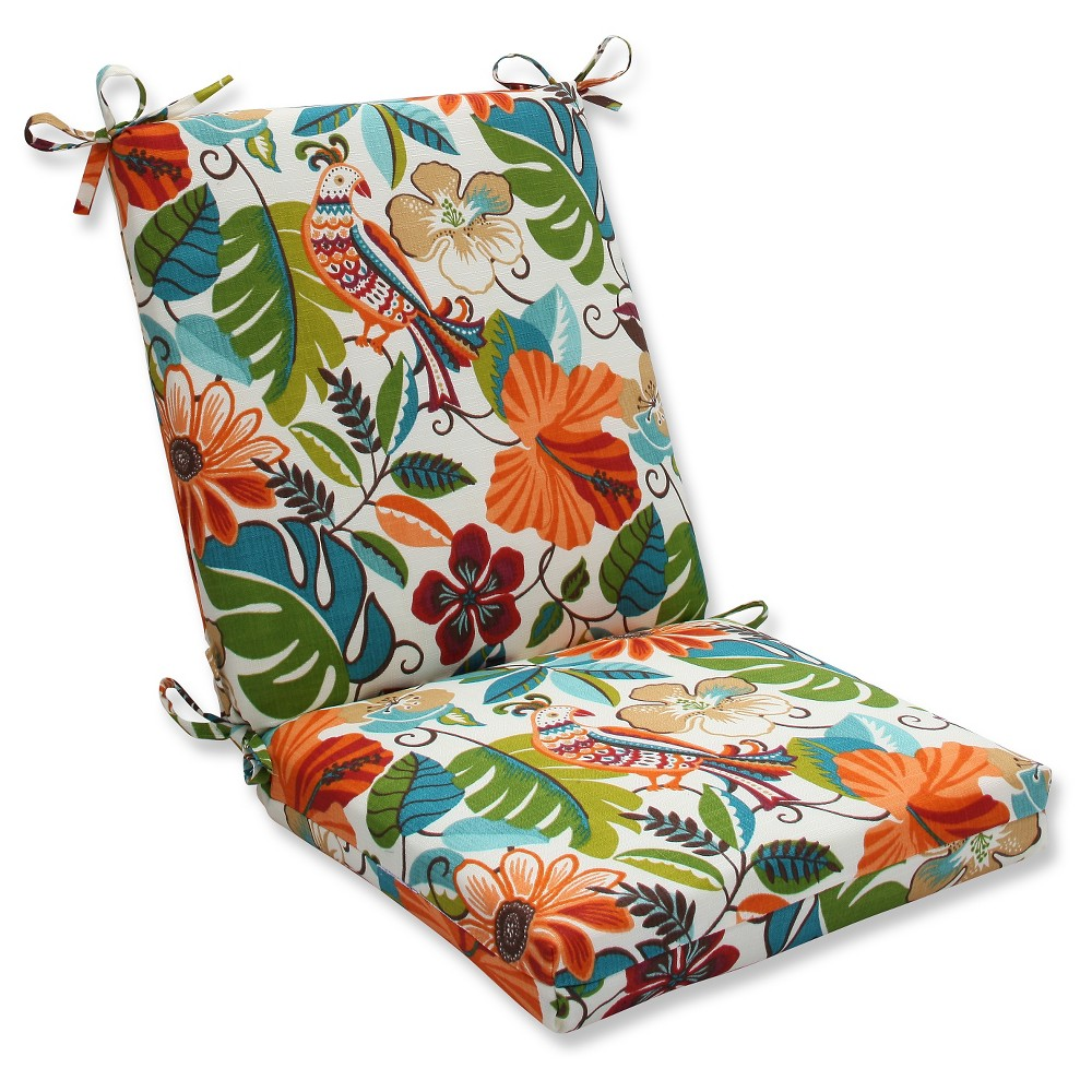 Pillow Perfect Outdoor One Piece Seat And Back Cushion - Off White, Beige