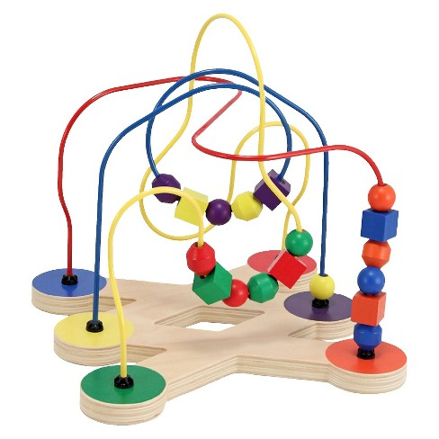 Melissa & Doug Classic Bead Maze - Wooden Educational Toy - image 1 of 4
