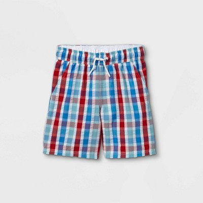 "Boys' Seersucker 15"" Swim Trunks - Cat & Jack™ White"