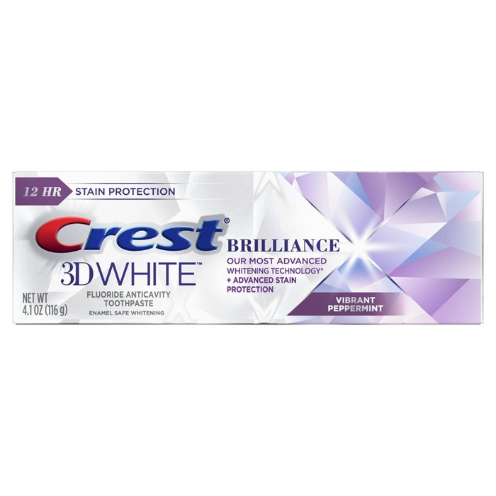 Crest 3D White Brilliance + Advanced Stain Protection Premium Vibrant Peppermint Toothpaste : Target