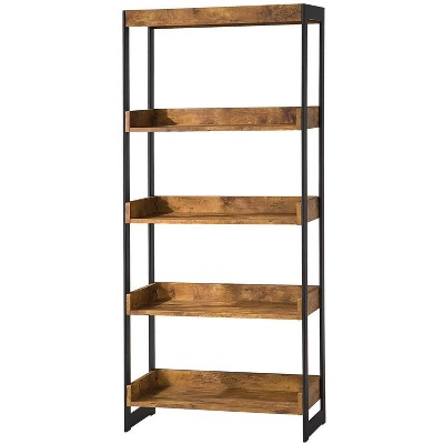 "59.75"" Rustically Designed Bookshelf - Benzara"