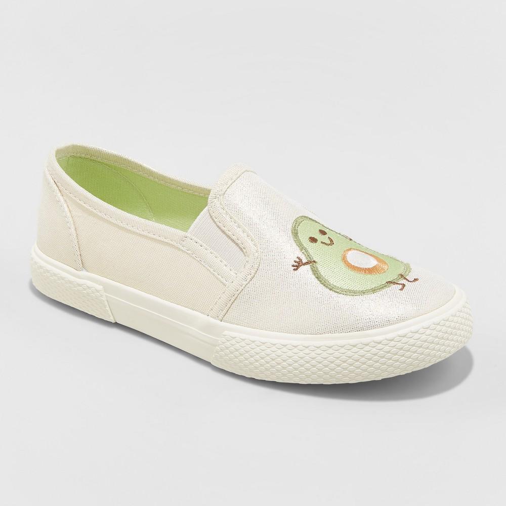 Girls' Mahira Avocado Toast Sneakers - Cat & Jack Gold 2