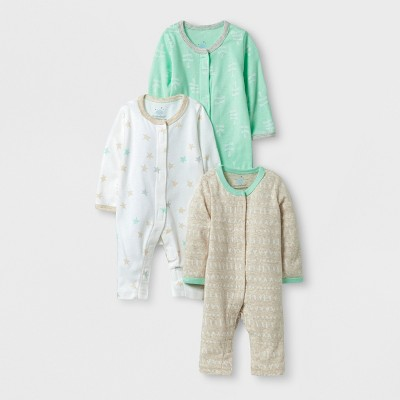 Baby 3pk Sleep N' Play Set Cloud Island™ - Mint/Oatmeal preemie