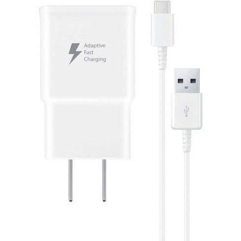 Samsung 15W USB-C Fast Charging Travel Wall Charger (with USB-C Cable) - White - image 1 of 3