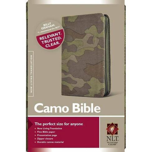 Camo Bible-NLT-Zipper - (Hardcover) - image 1 of 1
