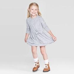 Toddler Girls' Long Sleeve Cozy Dress - Cat & Jack™ Gray