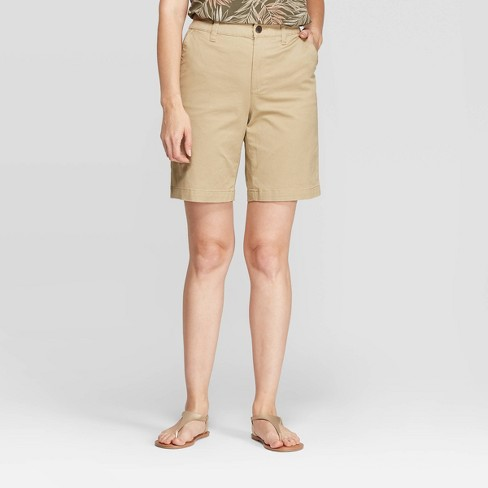 """Women's 9"""" Chino Shorts - A New Day™ - image 1 of 3"""