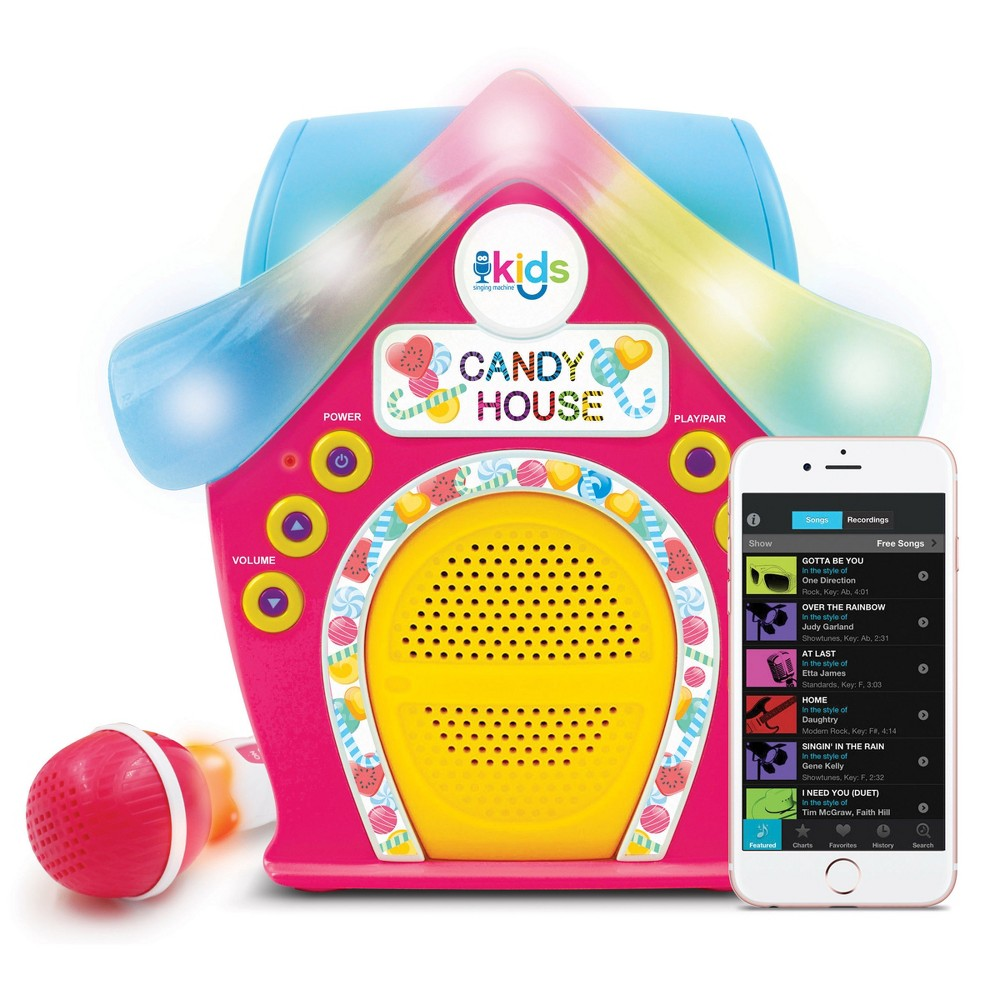 Singing Machine SMK470 Candy House BT audio streaming, Multi-Colored