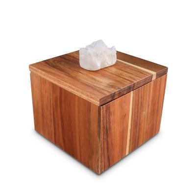 Thirstystone Acacia Wood and Quartz Stone Kitchen Storage Box
