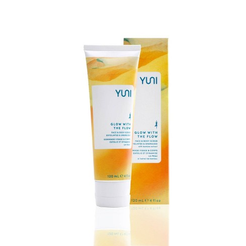 YUNI Beauty Glow with the Flow Face & Body Scrub - 4oz. - image 1 of 3