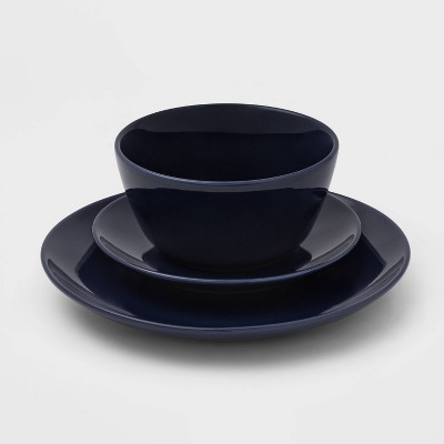 12pc Ceramic Avesta Dinnerware Set Blue - Project 62™