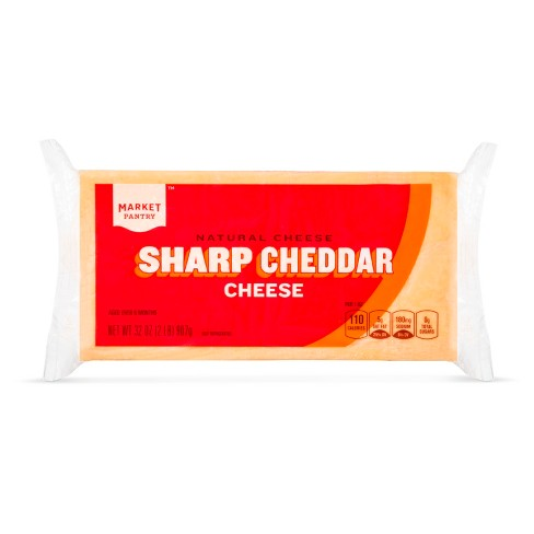 Natural Sharp Cheddar Cheese - 32oz - Market Pantry™ - image 1 of 1
