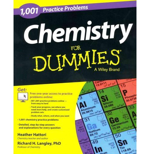 1,001 Chemistry Practice Problems for Dummies (Paperback) (Heather Hattori) - image 1 of 1