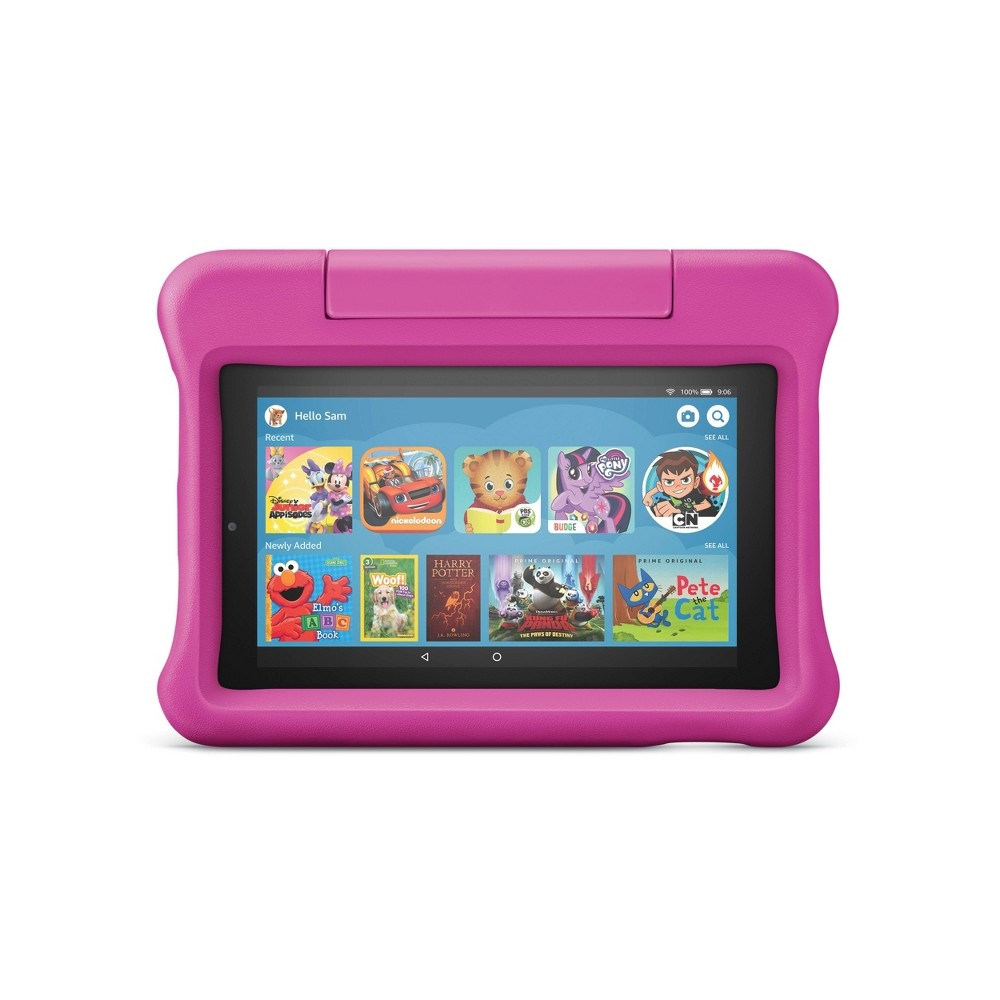 """Amazon Fire 7 Kids Edition Tablet 7"""" Display 16 GB Pink Kid-Proof Case"""
