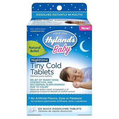 Children's Hylands Baby Nighttime Tiny Cold Tablets - 125ct