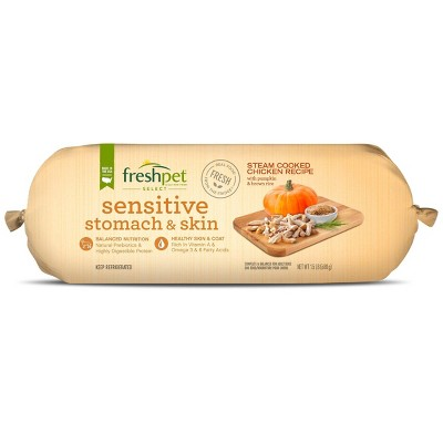 Freshpet Select Roll Sensitive Stomach & Skin Chicken Recipe Refrigerated Wet Dog Food - 1.5lbs