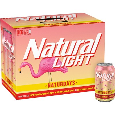 Natural Light Naturdays Strawberry Lemonade Beer - 30pk/12 fl oz Cans