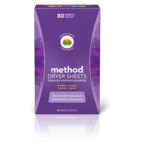 Method Lavender Dryer Sheets - 80ct - image 1 of 2