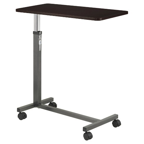 Drive Medical Non Tilt Top Overbed Table, Silver Vein - image 1 of 4