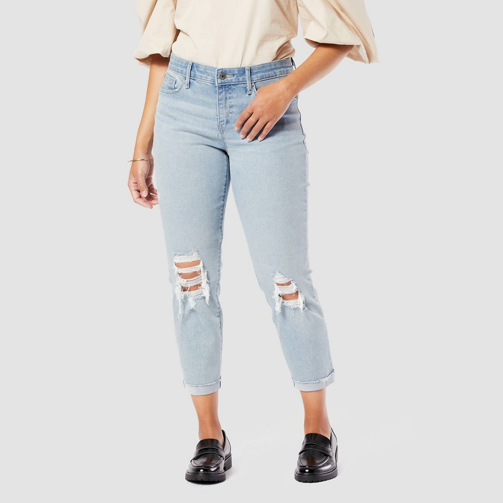 Denizen 174 From Levi 39 S 174 Women 39 S Mid Rise Slim Fit Cropped Boyfriend Jeans Ollie 8