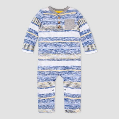 Burt's Bees Baby® Baby Boys' Striped Romper - Blue