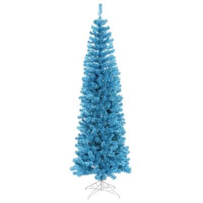 Vickerman Sky Blue Pencil  Christmas Artificial Tree