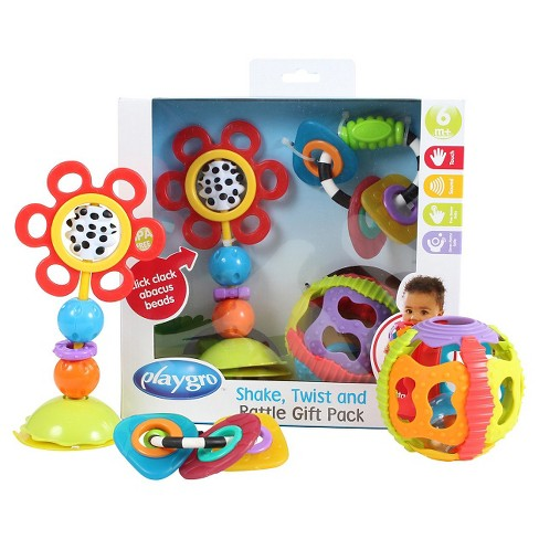 playgro shake twist and rattle pack target