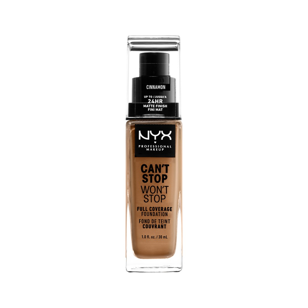Nyx Professional Makeup Can't Stop Won't Stop Full Coverage Foundation Cinnamon (Red) - 1.3 fl oz