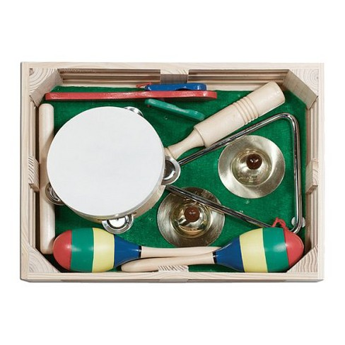 Melissa & Doug® Band-in-a-Box Clap! Clang! Tap! - 10-Piece Musical Instrument Set - image 1 of 4