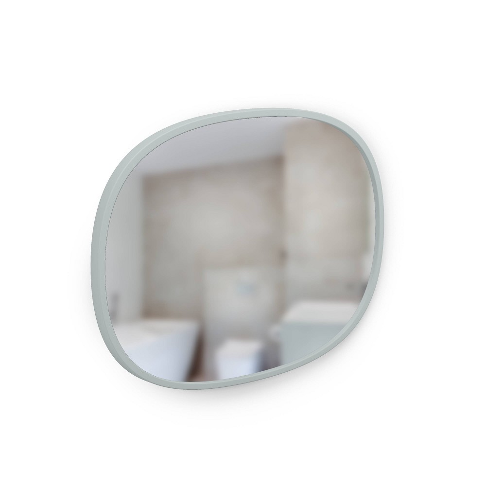 "Image of ""18"""" x 24"""" Oval Hub Decorative Wall Mirror Gray - Umbra"""