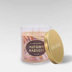 15.1oz Lidded Glass Jar 2-Wick Candle Autumn Harvest - Opalhouse™