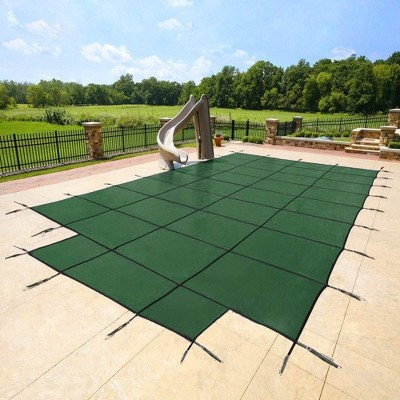 Yard Guard DG183658S Deck Lock System Safety Cover for 18 x 36 Foot Pools, Green