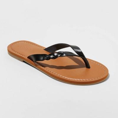 Women's Bobbie Braided Flip Flop Sandals - Universal Thread™