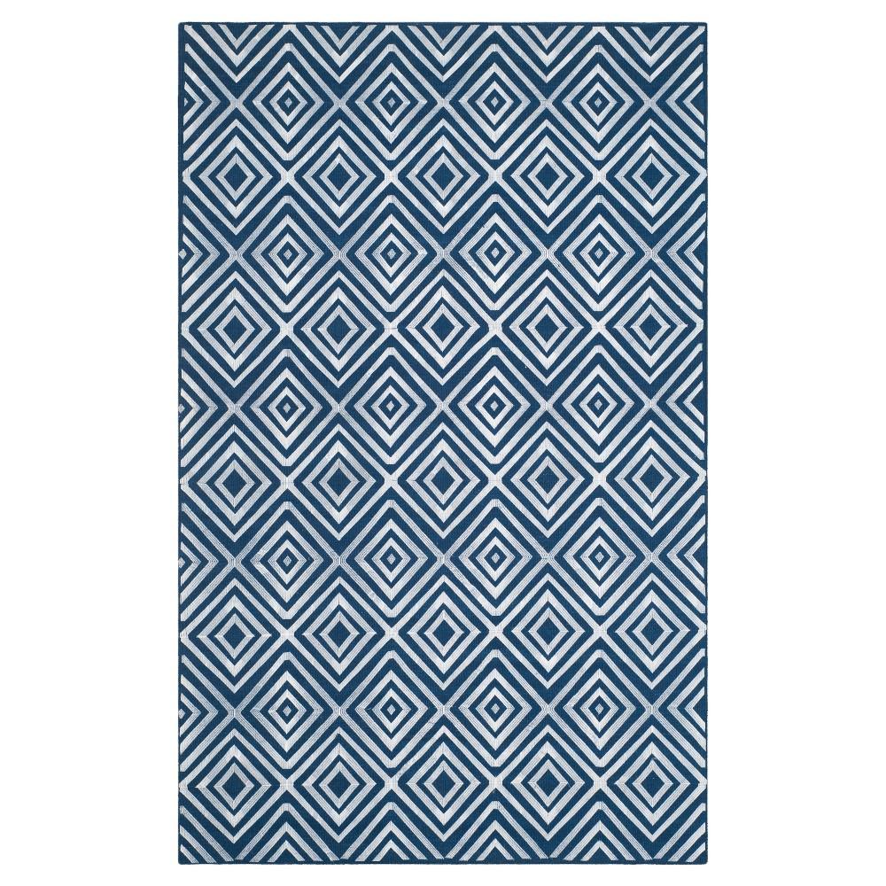 Kilim Rug - Navy (Blue) - (5'x8') - Safavieh