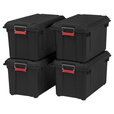 IRIS 4pk 82qt Weather Tight Storage Bin