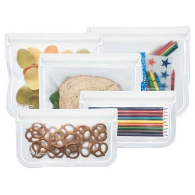(re)zip Leak-proof Clear Reusable Storage Bag Kit - 5ct