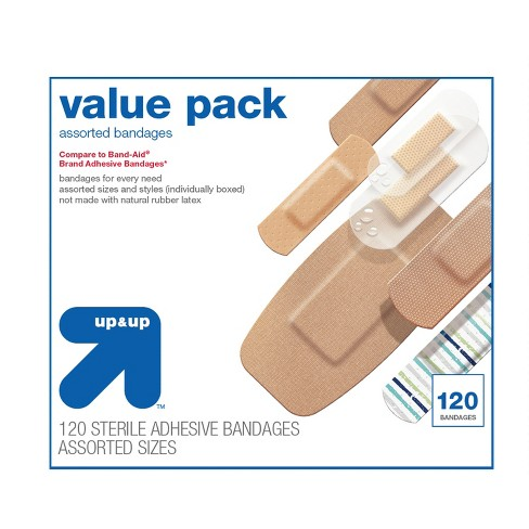 Assorted Bandages Value Pack - 120ct - Up&Up™ - image 1 of 1