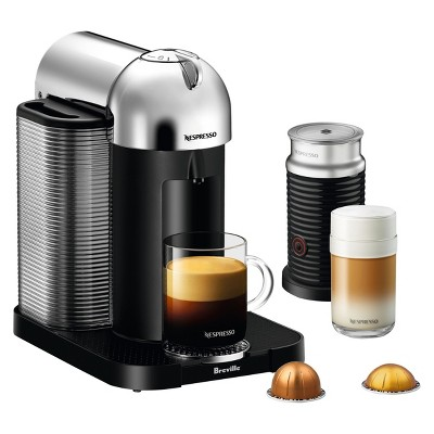 Nespresso VertuoLine Coffee and Espresso Machine Bundle Chrome