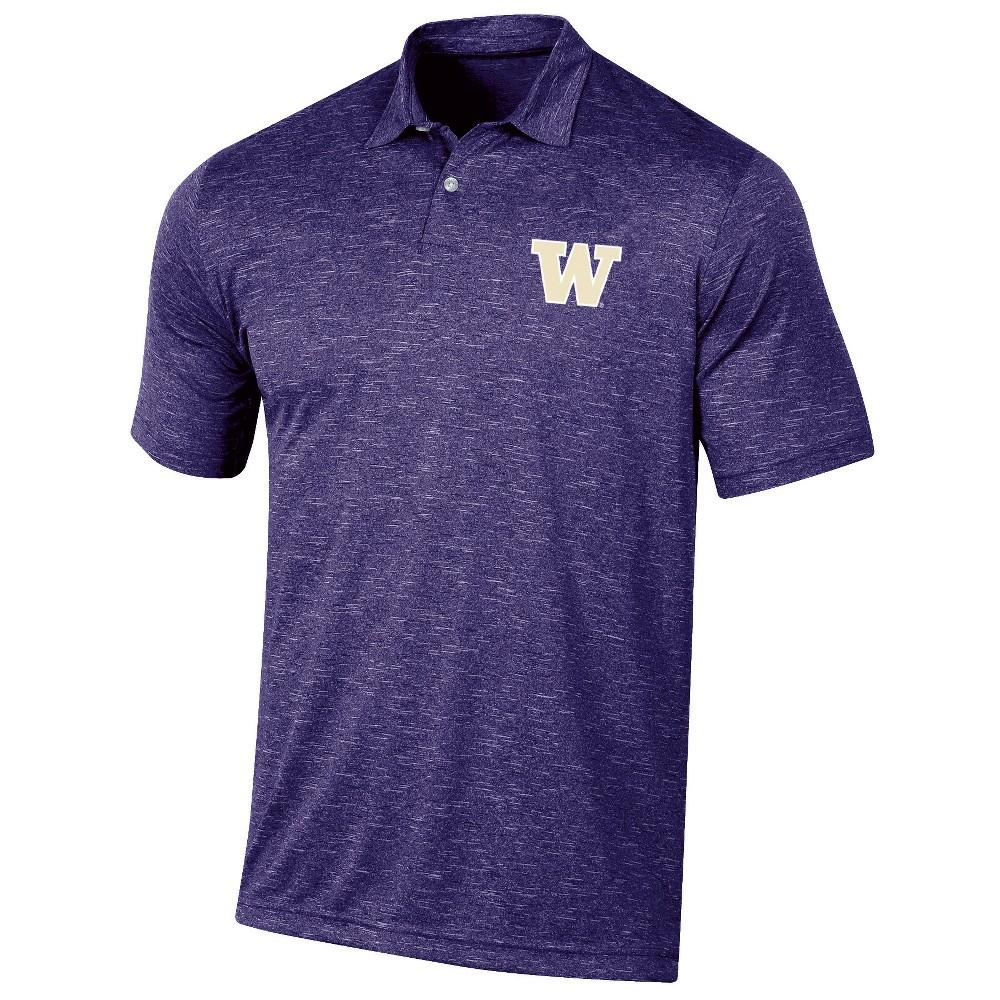 Washington Huskies Men's Short Sleeve Twisted Jersey Polo Shirt - XL, Multicolored