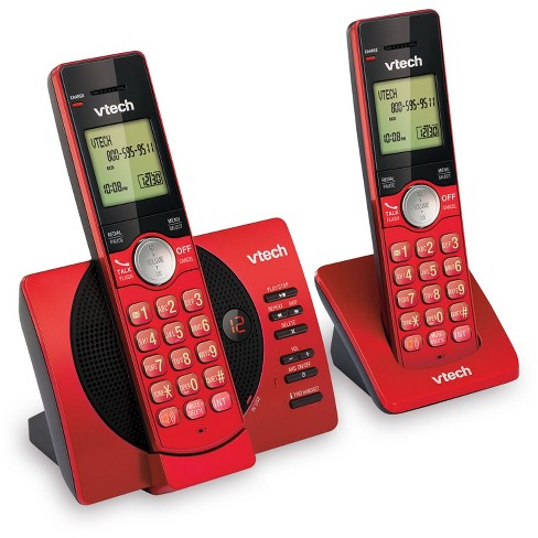 VTech® CS6929-26 DECT 6.0 Expandable Cordless Phone System with Answering Machine, 2 Handsets - Red - image 1 of 2