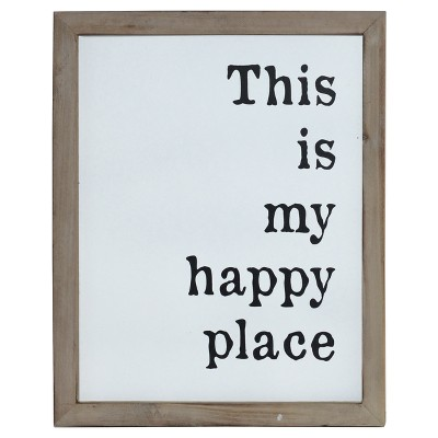 Happy Place Wall Décor White (12 x15 )- VIP Home & Garden