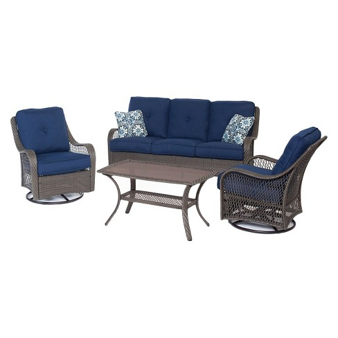 Orleans 4 Pc All Weather Patio Set