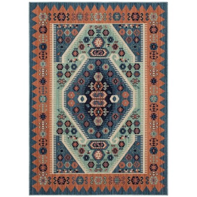 7'X10' Buttercup Diamond Vintage Persian Woven Rug Blue - Opalhouse™