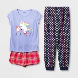 Girls' Unicorn 3pc Pajama Set - Cat & Jack™