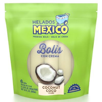 Helados Mexico Frozen Coconut Coco Bolis Con Crema - 30oz/6ct
